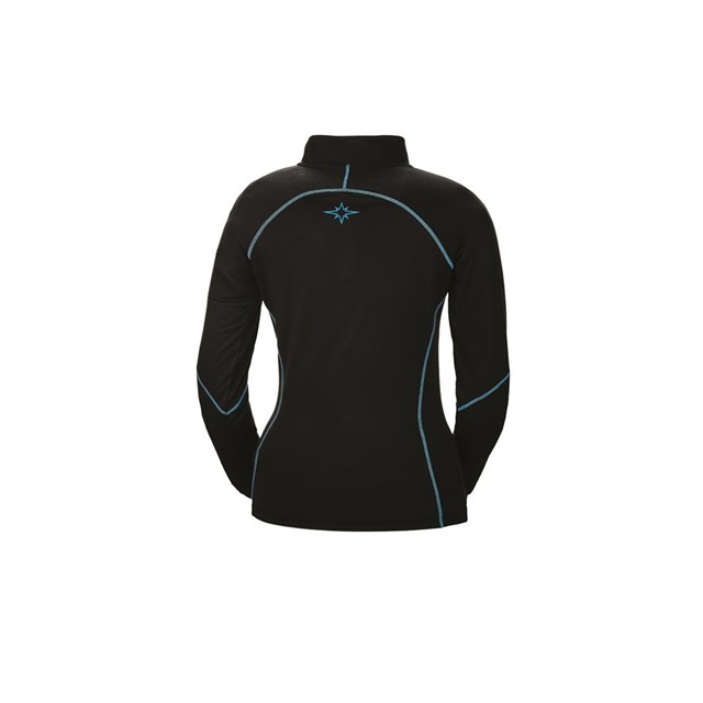 Women's 1/4 Zip - Black/Blue