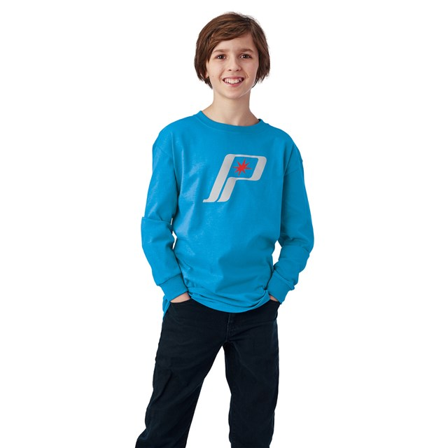 Youth Retro Long Sleeve Tee - Blue