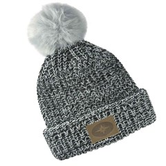 Women's Knit POM Beanie with Leather Polaris® Patch
