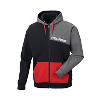 Men's Color Block Hoodie - Red/Black