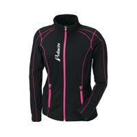 Womens Full Zip Ice Fleece- Black/Pink
