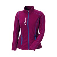Womens Full Zip Ice Fleece- Purple/Blue