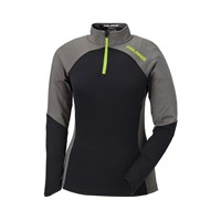 Womens Tech Quarter Zip- Black/Grey