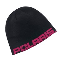 Youth Reversible Printed Beanie - Pink Geo