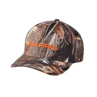 Men's Snapback Hat with Orange Logo, Camo