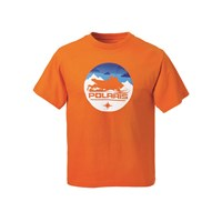Youth Circle Sled Tee - Orange