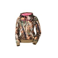 Women's Pursuit Camo Hoodie with Pink Logo