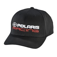 Unisex (S/M) Flexfit Hat with Racing Logo, Black