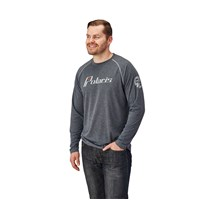 Men's Long-Sleeve Retro Graphic Performance Shirt with Polaris® Logo