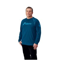 Men's Long Sleeve Retro Tee - Navy