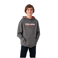 Youth Racing Hoodie Sweatshirt with Polaris® Logo, Gray