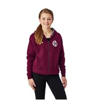 Youth Full Zip Retro Hoodie - Berry
