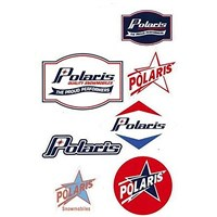 Sticker Sheet with Retro Polaris® Logos