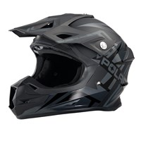 Force Adult Moto Helmet with Removable Mouthpiece