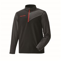 Men's Long Sleeve Tech 1/4 Zip - Black/Red