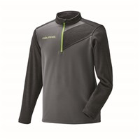 Men's Long Sleeve Tech 1/4 Zip - Gray/Lime