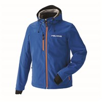 Men's Softshell Jacket - Blue/Orange