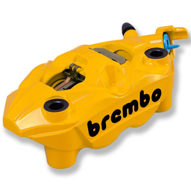 Brembo Left Front Brake Caliper, Yellow