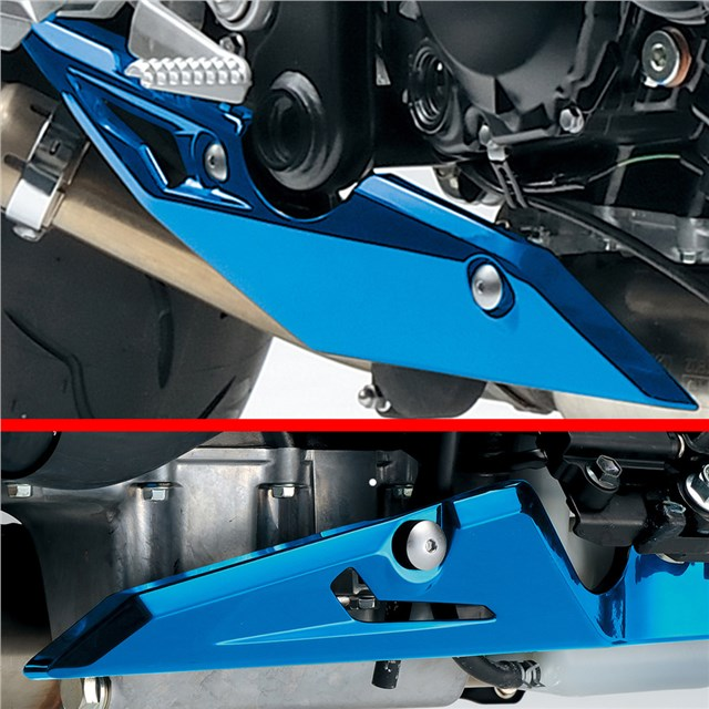 Exhaust Trim, Blue