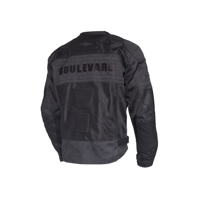 Boulevard Mesh Jacket Black With Silver Stripe