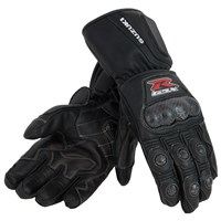 Gsx-R Leather Gauntlet Gloves, Black