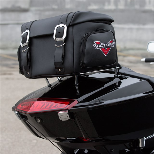 Touring Luggage Rack Bag Black By Victory Motorcycles