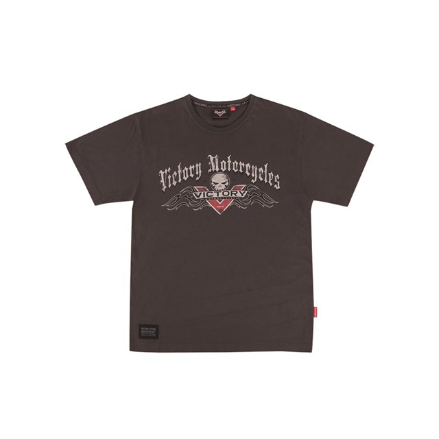 Men's Black Flaming V Badge Tee by Victory ®