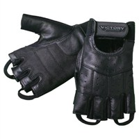 Mens Fingerless Glove - Black by Victory Motorcycles