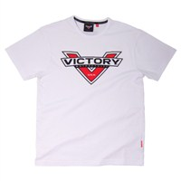 Mens Logo Color Badge T-Shirt - White by Victory Motorcycles