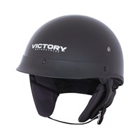 Half Helmet 1 Open Face - Black by Victory Motorcycles