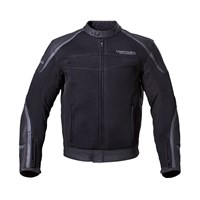 Mens Leather Mesh Hybrid Jacket - Black by Victory Motorcycles