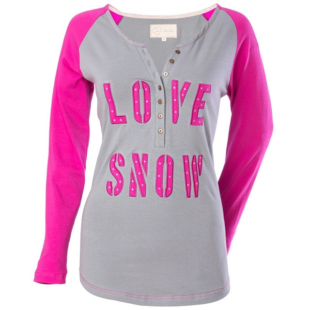 Love Snow Henley Long Sleeve Tee by Divas SnowGear®