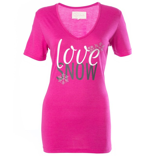 Love Snow Short Sleeve Tee by Divas SnowGear®
