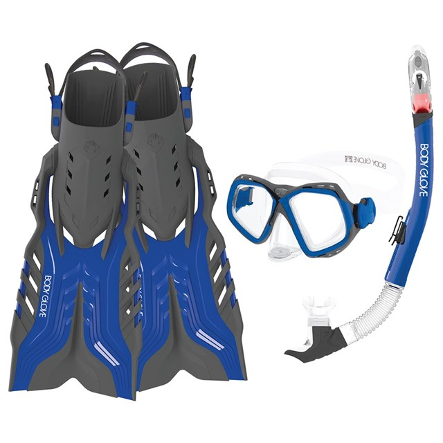 Fiji Mask, Snorkel, and Fins Combo Set by Body Glove®