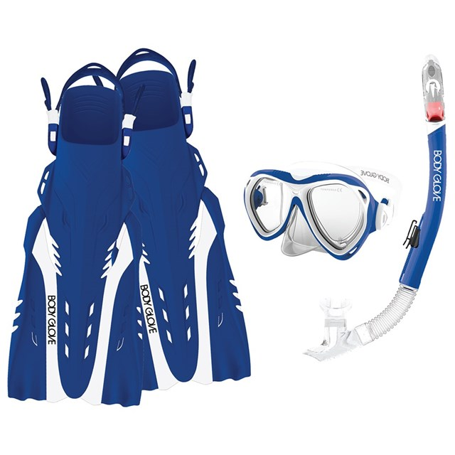 Women's Aruba Mask, Snorkel, and Fins Combo Set by Body Glove®