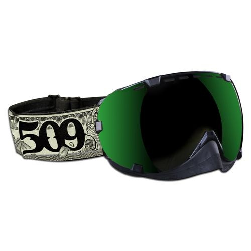 Aviator Goggles by 509® Dollar Bill (Green Mirror/Rose Tint lens)