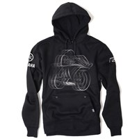 Yamaha R1 Pullover Hooded Sweatshirt by Factory Effex