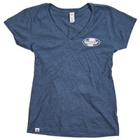 Women's Open Roads V-Neck Fender Emblem Tee