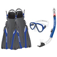 Azores Mask, Snorkel, and Fins Combo Set by Body Glove®