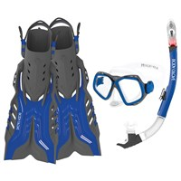 Fiji Mask, Snorkel, and Fins Combo Set by Body Glove