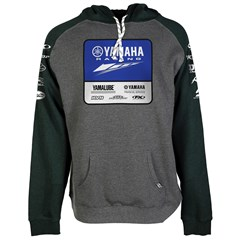 Yamaha Racing Team Hooded Pullover by Factory Effex - Charcoal
