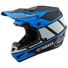 Yamaha RS1 SE4 Composite Helmet by Troy Lee Designs - Black